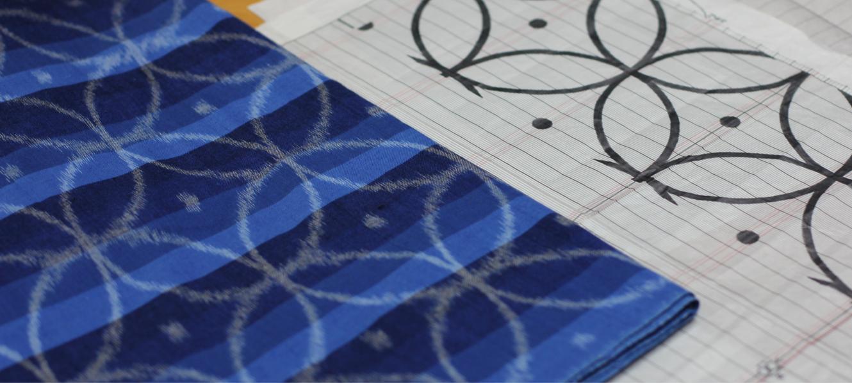 久留米絣の下川織物工場内スタジオの様子01