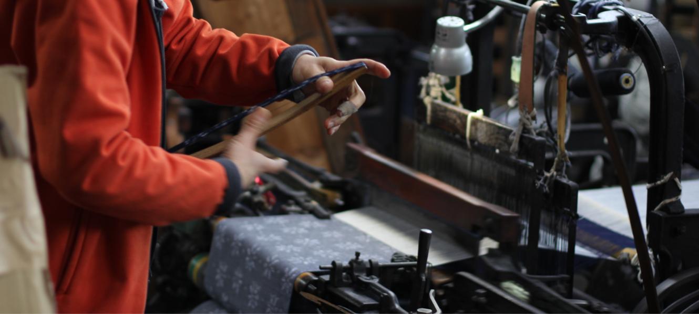 久留米絣の下川織物工場内スタジオの様子06
