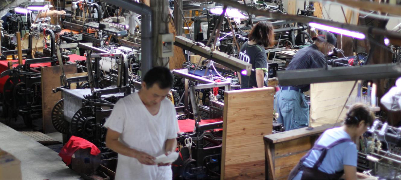 久留米絣の下川織物工場内スタジオの様子07
